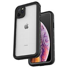 Wasserdicht Unterwasser Silikon Hülle Handyhülle und Kunststoff Waterproof Schutzhülle 360 Grad Tasche W04 für Apple iPhone 11 Pro Max Schwarz