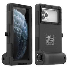 Wasserdicht Unterwasser Silikon Hülle und Kunststoff Waterproof Schutzhülle Handyhülle 360 Grad Ganzkörper Tasche für Apple iPhone 11 Pro Max Schwarz