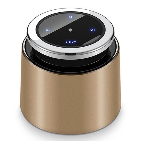 Bluetooth Mini Lautsprecher Wireless Speaker Boxen S26 Gold