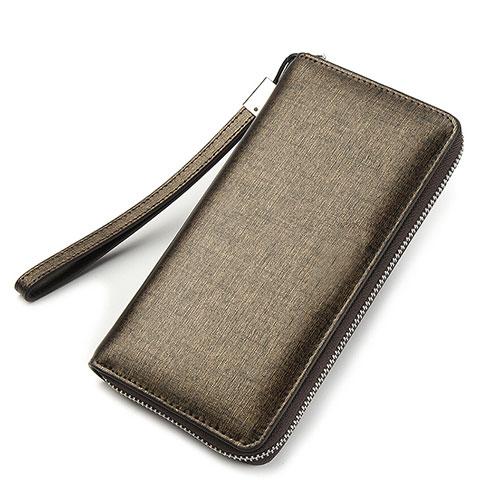 Handtasche Clutch Handbag Leder Silkworm Universal H04 Gold