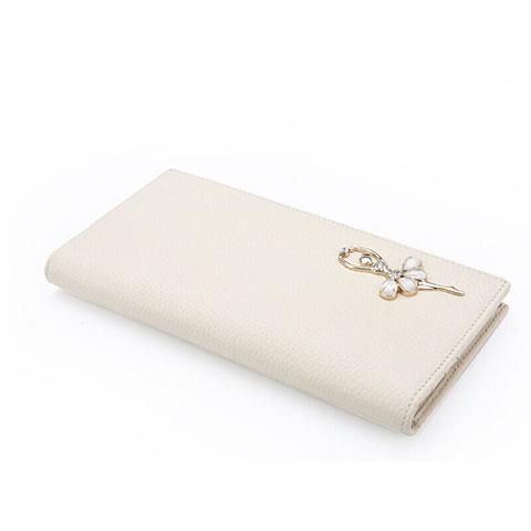 Handtasche Clutch Handbag Schutzhülle Leder Dancing Girl Universal Weiß