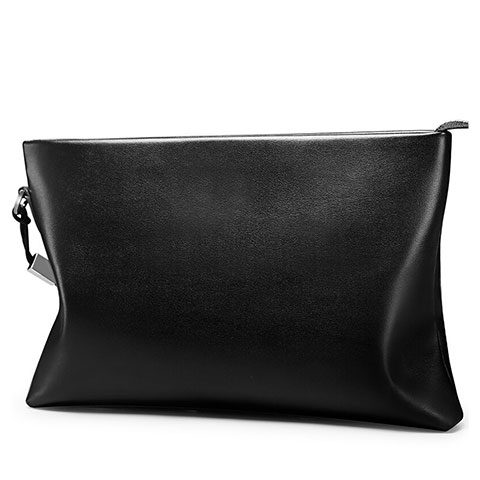 Handtasche Clutch Handbag Schutzhülle Leder Universal H01 Schwarz