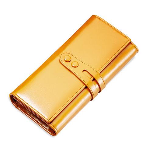 Handtasche Clutch Handbag Schutzhülle Leder Universal H14 Gold