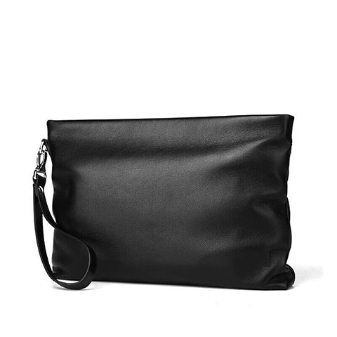 Handtasche Clutch Handbag Schutzhülle Leder Universal H20 Schwarz