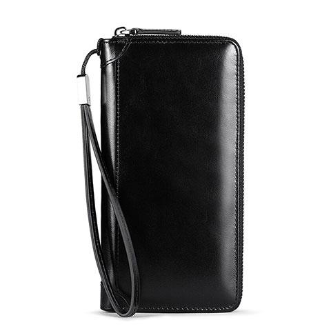 Handtasche Clutch Handbag Schutzhülle Leder Universal H32 Schwarz