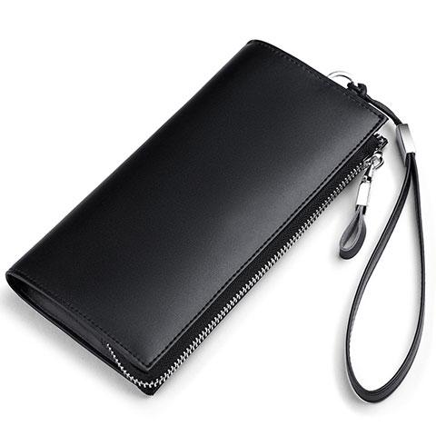 Handtasche Clutch Handbag Schutzhülle Leder Universal H34 Schwarz