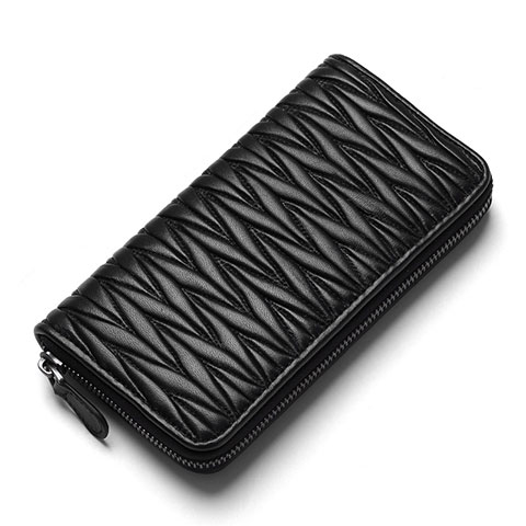 Handtasche Clutch Handbag Schutzhülle Leder Universal H35 Schwarz