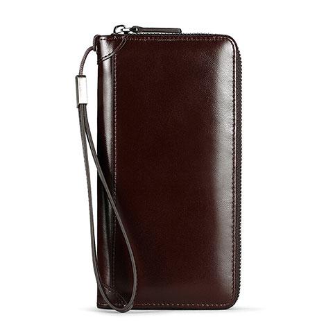 Handtasche Clutch Handbag Tasche Leder Universal H11 Braun