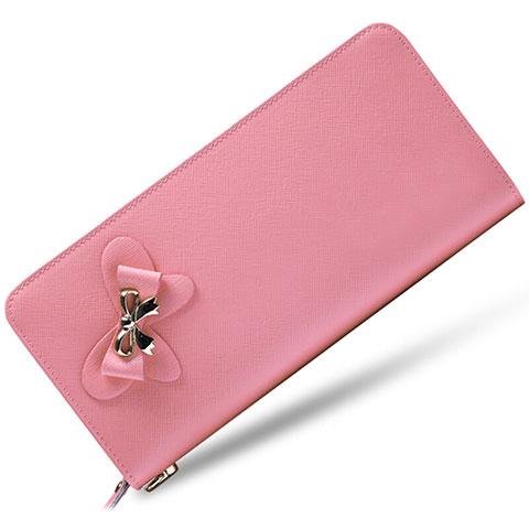 Handtasche Clutch Handbag Tasche Leder Universal Rosa
