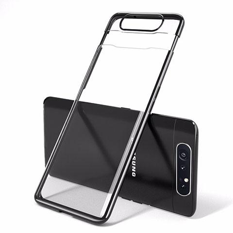 Handyhülle Hülle Crystal Tasche Schutzhülle H01 für Samsung Galaxy A80 Schwarz