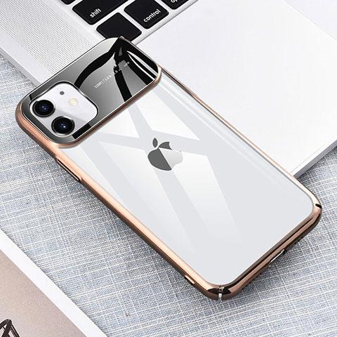 Handyhülle Hülle Crystal Tasche Schutzhülle S04 für Apple iPhone 11 Gold