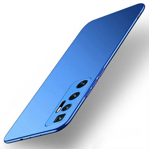 Handyhülle Hülle Hartschalen Kunststoff Schutzhülle Tasche Matt M01 für Xiaomi Mi 10 Ultra Blau