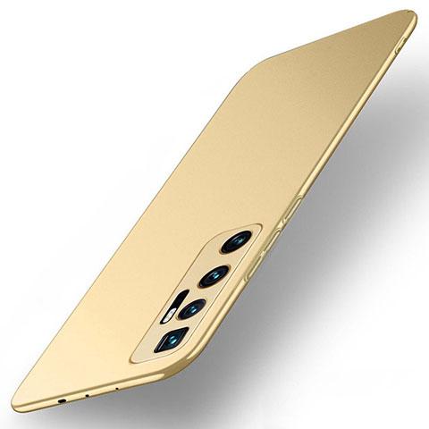 Handyhülle Hülle Hartschalen Kunststoff Schutzhülle Tasche Matt M01 für Xiaomi Mi 10 Ultra Gold
