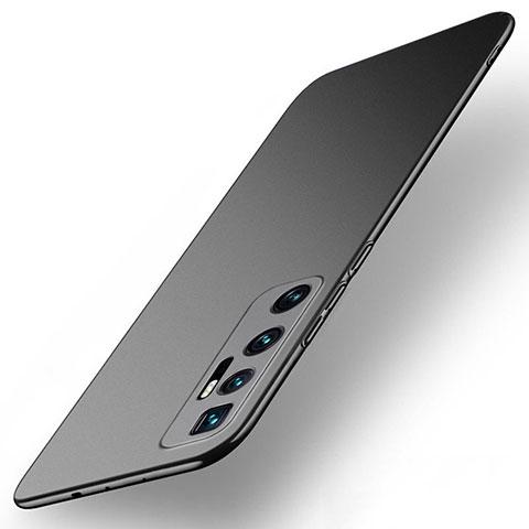 Handyhülle Hülle Hartschalen Kunststoff Schutzhülle Tasche Matt M01 für Xiaomi Mi 10 Ultra Schwarz
