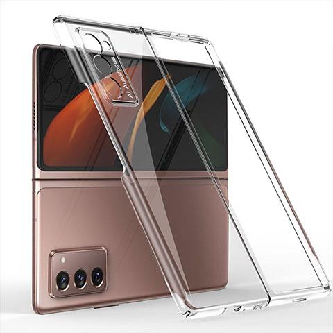Handyhülle Hülle Hartschalen Kunststoff Schutzhülle Tasche Matt Vorder und Rückseite 360 Grad Ganzkörper für Samsung Galaxy Z Fold2 5G Klar