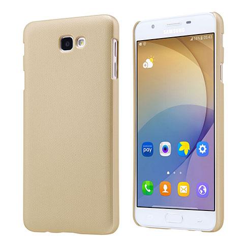 Handyhülle Hülle Kunststoff Schutzhülle Matt für Samsung Galaxy J7 Prime Gold