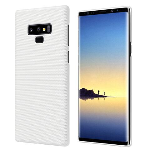 Handyhülle Hülle Kunststoff Schutzhülle Matt M04 für Samsung Galaxy Note 9 Weiß