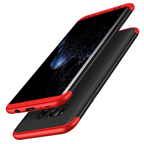 Handyhülle Hülle Kunststoff Schutzhülle Matt Vorder und Rückseite 360 Grad M03 für Samsung Galaxy S8 Rot und Schwarz