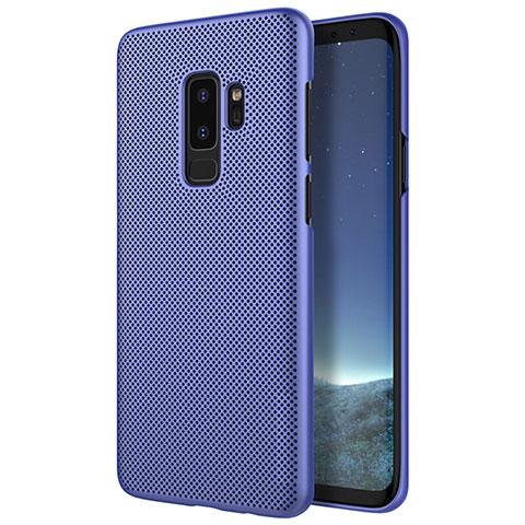 Handyhülle Hülle Kunststoff Schutzhülle Punkte Loch für Samsung Galaxy S9 Plus Blau