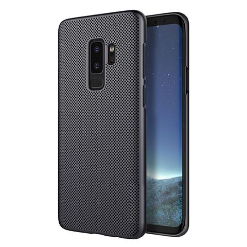Handyhülle Hülle Kunststoff Schutzhülle Punkte Loch für Samsung Galaxy S9 Plus Schwarz