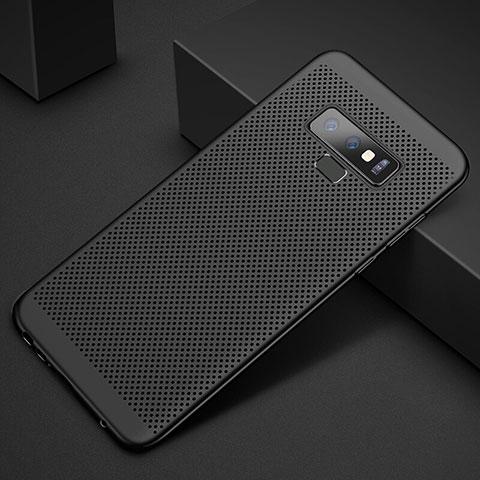 Handyhülle Hülle Kunststoff Schutzhülle Punkte Loch Tasche für Samsung Galaxy Note 9 Schwarz
