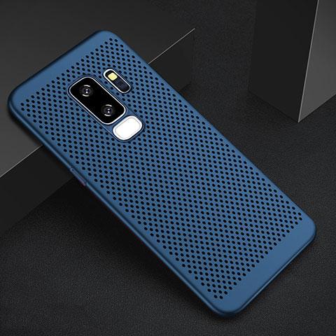 Handyhülle Hülle Kunststoff Schutzhülle Punkte Loch Tasche für Samsung Galaxy S9 Plus Blau