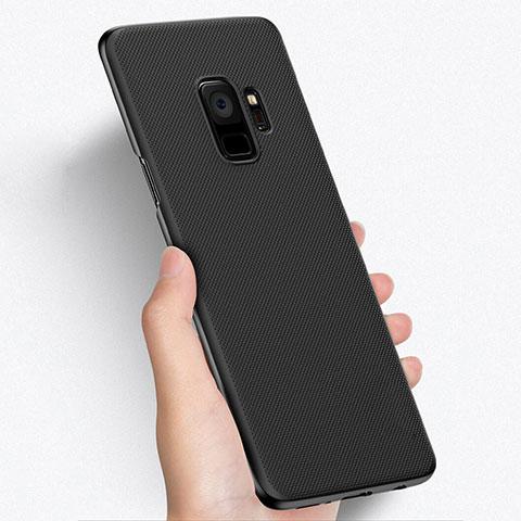 Handyhülle Hülle Kunststoff Schutzhülle Punkte Loch W01 für Samsung Galaxy S9 Schwarz