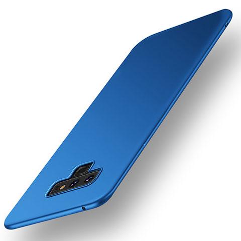 Handyhülle Hülle Kunststoff Schutzhülle Tasche Matt M01 für Samsung Galaxy Note 9 Blau