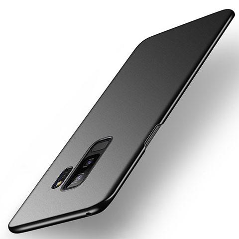 Handyhülle Hülle Kunststoff Schutzhülle Tasche Matt M01 für Samsung Galaxy S9 Plus Schwarz