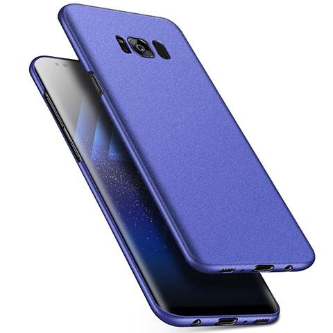 Handyhülle Hülle Kunststoff Schutzhülle Tasche Matt M17 für Samsung Galaxy S8 Plus Blau