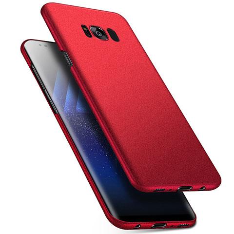 Handyhülle Hülle Kunststoff Schutzhülle Tasche Matt M17 für Samsung Galaxy S8 Rot