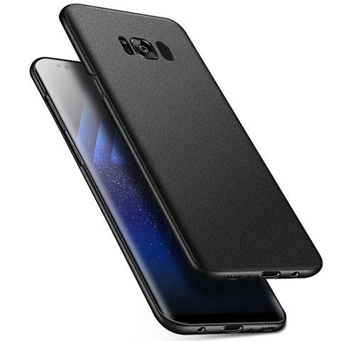 Handyhülle Hülle Kunststoff Schutzhülle Tasche Matt M17 für Samsung Galaxy S8 Schwarz