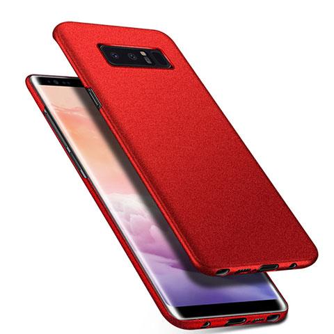 Handyhülle Hülle Kunststoff Schutzhülle Tasche Matt P01 für Samsung Galaxy Note 8 Duos N950F Rot