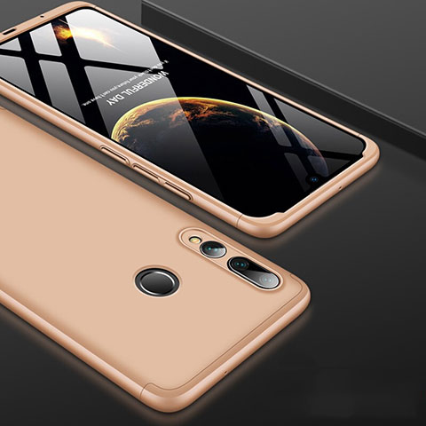 Handyhülle Hülle Kunststoff Schutzhülle Tasche Matt Vorder und Rückseite 360 Grad für Huawei Honor 20 Lite Gold