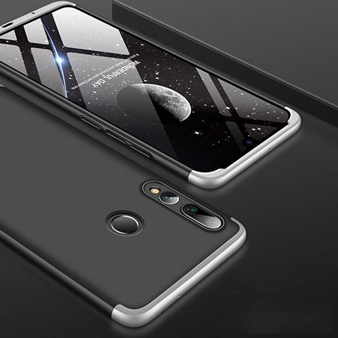 Handyhülle Hülle Kunststoff Schutzhülle Tasche Matt Vorder und Rückseite 360 Grad für Huawei Honor 20 Lite Silber