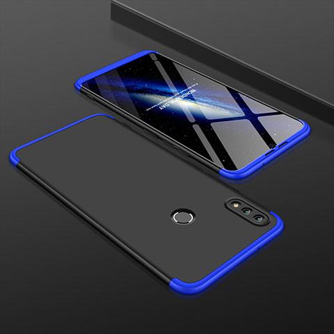 Handyhülle Hülle Kunststoff Schutzhülle Tasche Matt Vorder und Rückseite 360 Grad für Huawei Honor 8X Blau und Schwarz