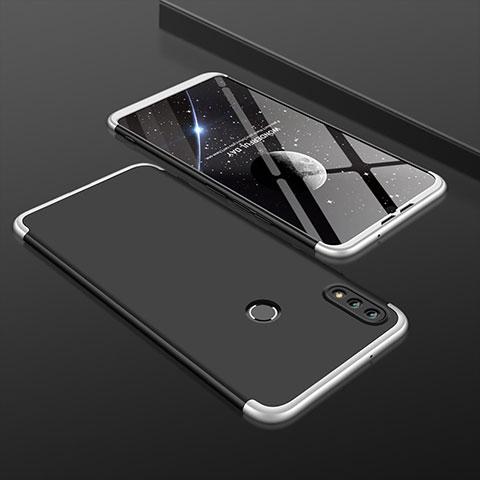 Handyhülle Hülle Kunststoff Schutzhülle Tasche Matt Vorder und Rückseite 360 Grad für Huawei Honor 8X Silber und Schwarz