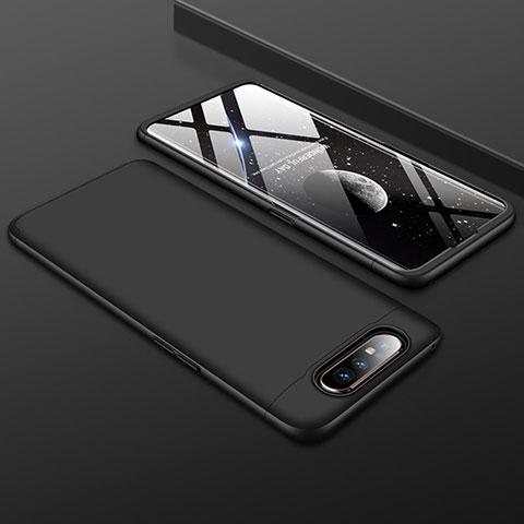 Handyhülle Hülle Kunststoff Schutzhülle Tasche Matt Vorder und Rückseite 360 Grad für Samsung Galaxy A80 Schwarz