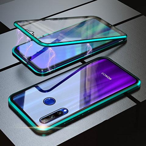Handyhülle Hülle Luxus Aluminium Metall Rahmen Spiegel 360 Grad Tasche für Huawei Honor 20 Lite Grün