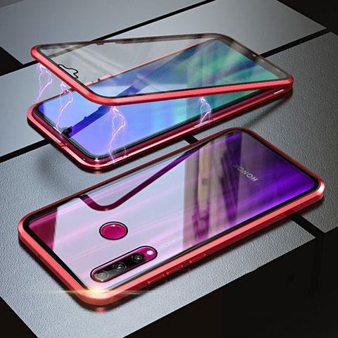 Handyhülle Hülle Luxus Aluminium Metall Rahmen Spiegel 360 Grad Tasche für Huawei Honor 20 Lite Rot