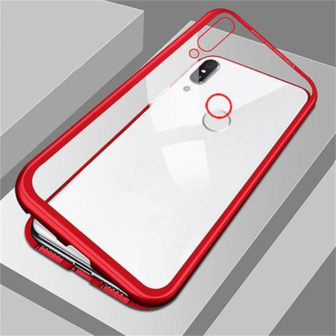 Handyhülle Hülle Luxus Aluminium Metall Rahmen Spiegel Tasche für Huawei Honor 8X Rot