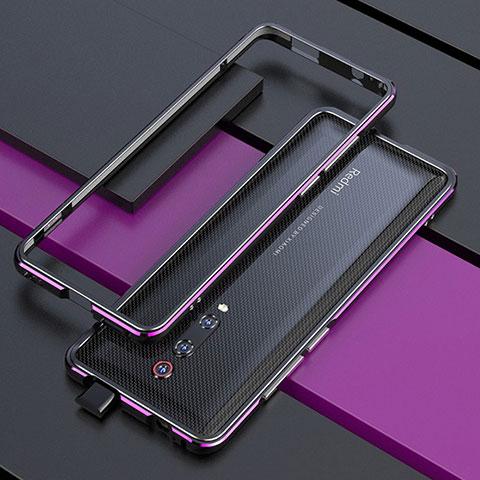 Handyhülle Hülle Luxus Aluminium Metall Rahmen Tasche für Xiaomi Mi 9T Violett