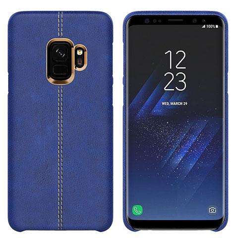 Handyhülle Hülle Luxus Leder Schutzhülle für Samsung Galaxy S9 Blau