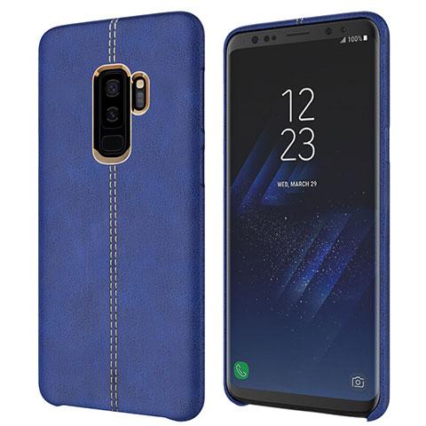 Handyhülle Hülle Luxus Leder Schutzhülle für Samsung Galaxy S9 Plus Blau