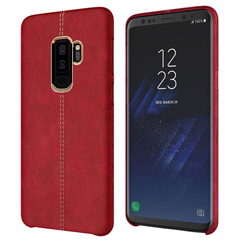 Handyhülle Hülle Luxus Leder Schutzhülle für Samsung Galaxy S9 Plus Rot