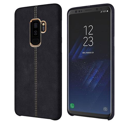Handyhülle Hülle Luxus Leder Schutzhülle für Samsung Galaxy S9 Plus Schwarz