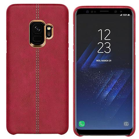 Handyhülle Hülle Luxus Leder Schutzhülle für Samsung Galaxy S9 Rot