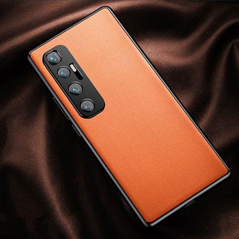 Handyhülle Hülle Luxus Leder Schutzhülle für Xiaomi Mi 10 Ultra Orange