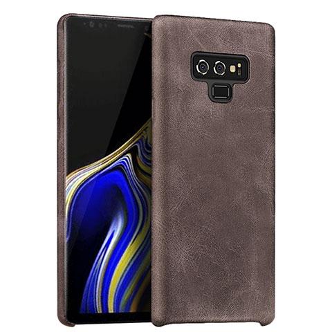 Handyhülle Hülle Luxus Leder Schutzhülle L01 für Samsung Galaxy Note 9 Braun