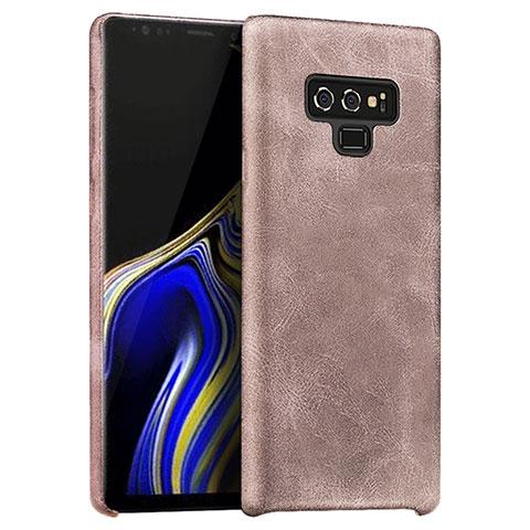 Handyhülle Hülle Luxus Leder Schutzhülle L01 für Samsung Galaxy Note 9 Rosegold